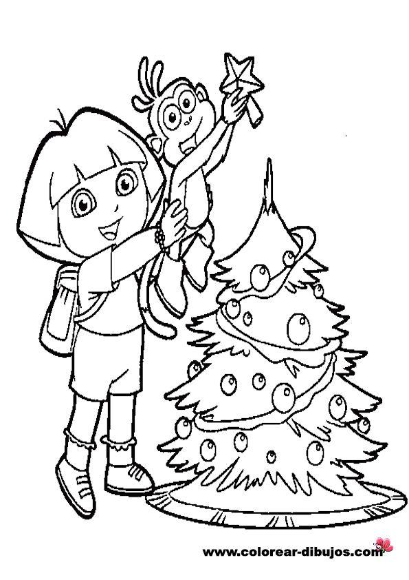 Imagenes de navidad para colorear e imprimir dibujos de - Arbol de navidad para imprimir ...