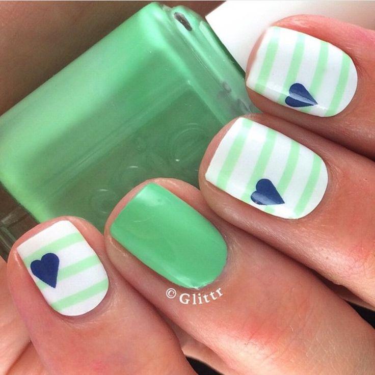 Mejores 9 imágenes de pintado de uñas en Pinterest   La uña, Arte de ...