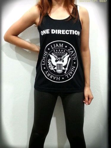 1D One Direction Ramones Logo Band Womens Black Tank Top Sleeveless T Shirt - $23.39 -  You save: $2.60 (10% off)  http://rover.ebay.com/rover/1/711-53200-19255-0/1?ff3=4&pub=5575074650&toolid=10001&campid=5337444095&customid=&mpre=http%3A%2F%2Fwww.ebay.com%2Fitm%2F1D-One-Direction-Ramones-Logo-Band-Womens-Black-Tank-Top-Sleeveless-T-Shirt-%2F251501757096%3Fpt%3DUS_Womens_Tshirts%26var%3D%26hash%3Ditem3a8eac42a8