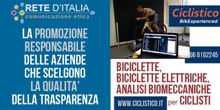CICLISTICO: Azienda vendita e assistenza Biciclette e Biciclette Elettriche, Analisi Biomeccanica del Ciclista. http://www.ciclistico.it