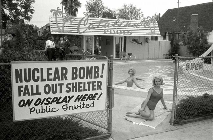 Fallout shelter for sale. Los Angeles, 1961, USA
