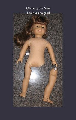 Great tutorial on repairing your 18-inch doll's leg. Love it.