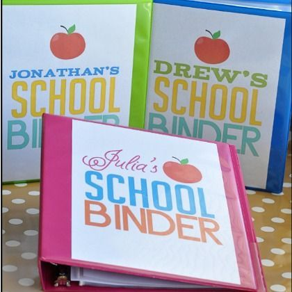 Book & Binder Labels for Back-to-School, plus lots of other printables for the home, great site!