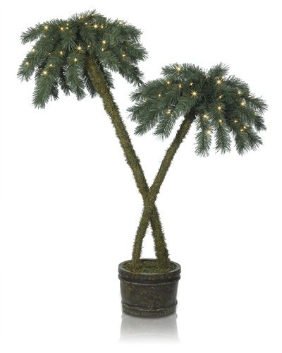 Bring some sunshine into your home on a long winter's day with our Beachside Potted Palm Trees. These potted palm trees provide a refreshing break from the traditional white Christmas.