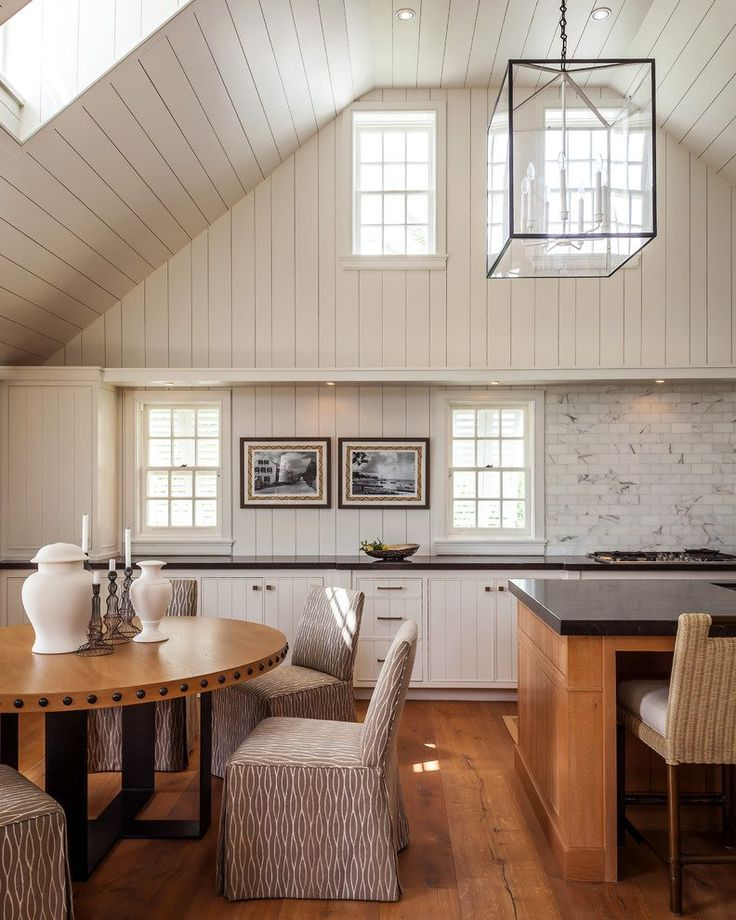 white-tongue-and-groove-ceiling-dining-room-contemporary ...