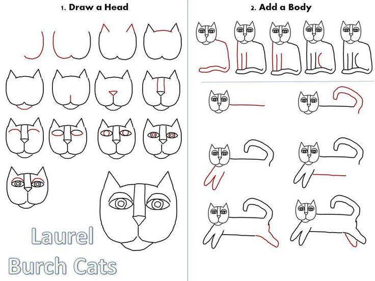 Cats, cats, cats al estilo de Laurel Burch
