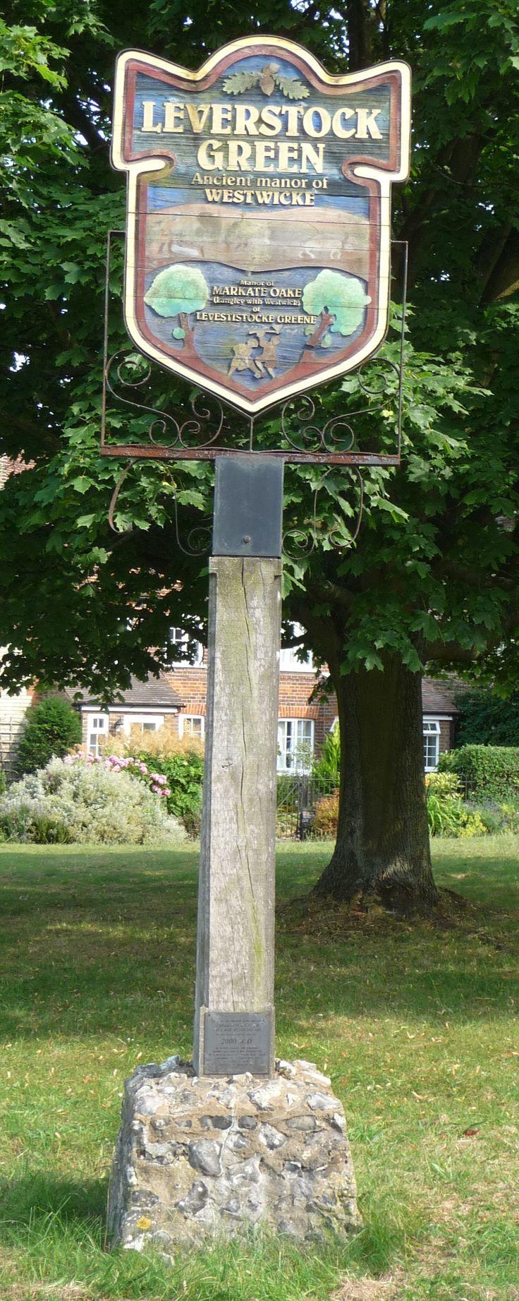 Leverstock Green village sign