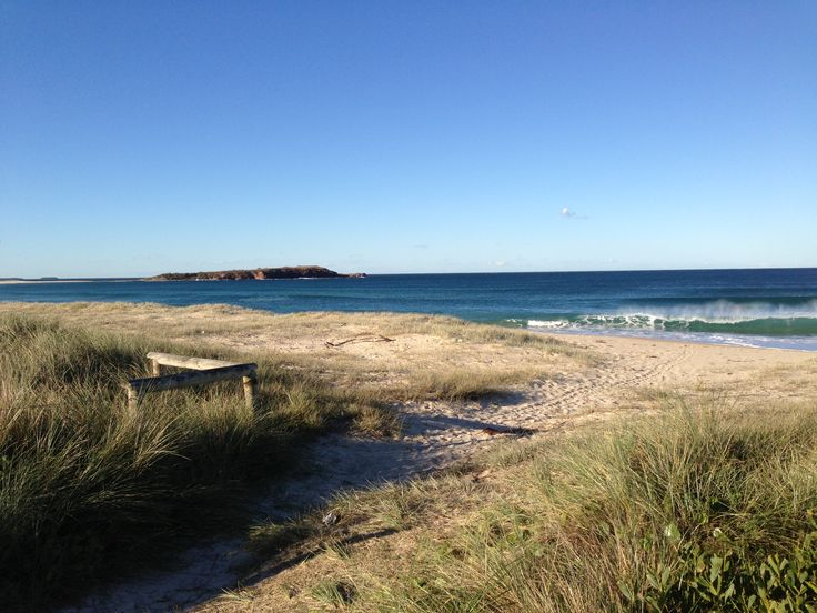 2013. Warilla Beach, looking towards Windang Island
