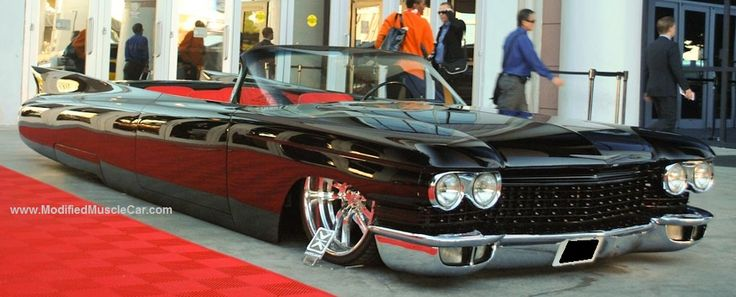 Muscle Car  Long Black epic classic convertible limo  AMERICAN