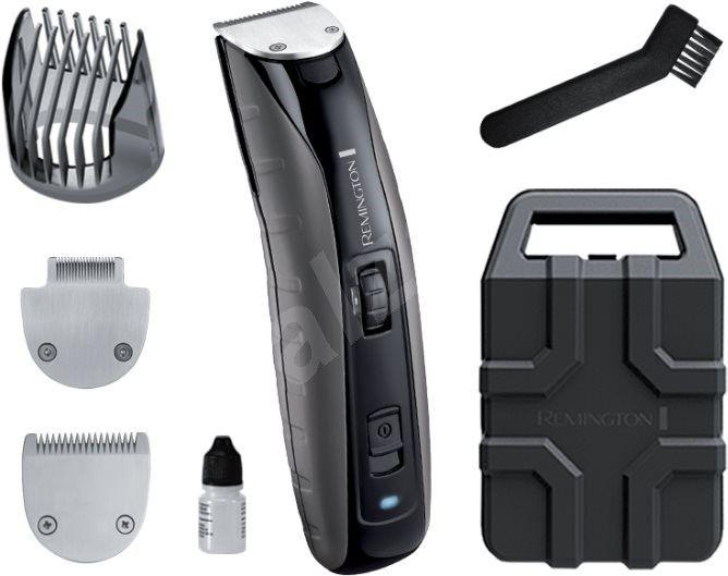 """""""Remington MB4850 Virtually Indestructible Beard Trimmer. Rychlá, efektivní a zároveň šetrná péče o hrubou mužskou pokožku. To vše je doménou nejvýkonnějšího zastřihovače značky Remington, který ve svém odolném polykarbonátovém těle skrývá dvojitou lithiovou baterii..."""""""