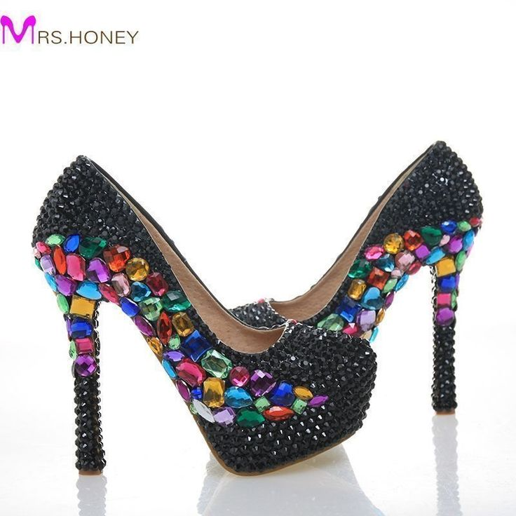 Black Rhinestone Wedding Party Shoes Round Toe Stiletto Heel Cinderella Prom Crystal Nightclub Shoes Handmade Bridal Dress Pumps #Stiletto heels http://www.ku-ki-shop.com/shop/stiletto-heels/black-rhinestone-wedding-party-shoes-round-toe-stiletto-heel-cinderella-prom-crystal-nightclub-shoes-handmade-bridal-dress-pumps/ #stilettoheelsdress #promheelscinderella #weddingshoes