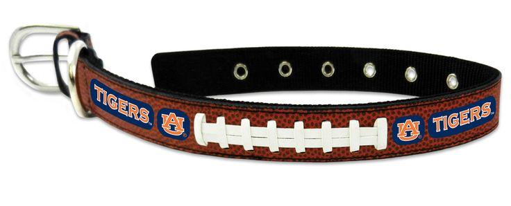 Auburn Tigers Classic Leather Large Football Collar