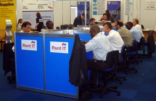 Busy Internet Cafe at Offshore Europe 2003 #OffshoreEurope #OilandGas #AECC #Aberdeen