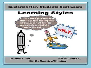 Essentially, if any two of us were the same, one would not be necessary.  One of the best ways to find out how students learn best is to have them take a learning styles inventory or learning styles survey such as the one found in this resource.  The learning styles resource was designed to be used in Grades 3-9 in any content area class to help students grasp that we all are diverse and learn differently, for accepting diversity and working cooperatively with others are 21st century skills.