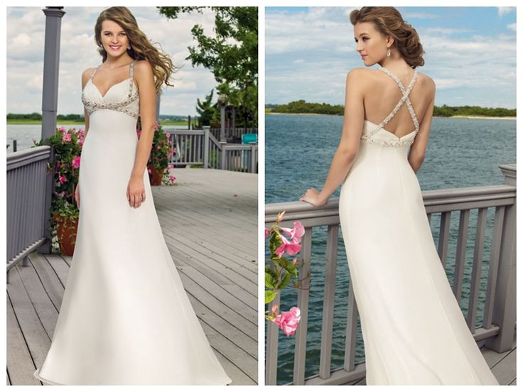 V-Neck Empire Waist Hot Sale Available in Spring Cheap Customer-Made Design Wedding Dress