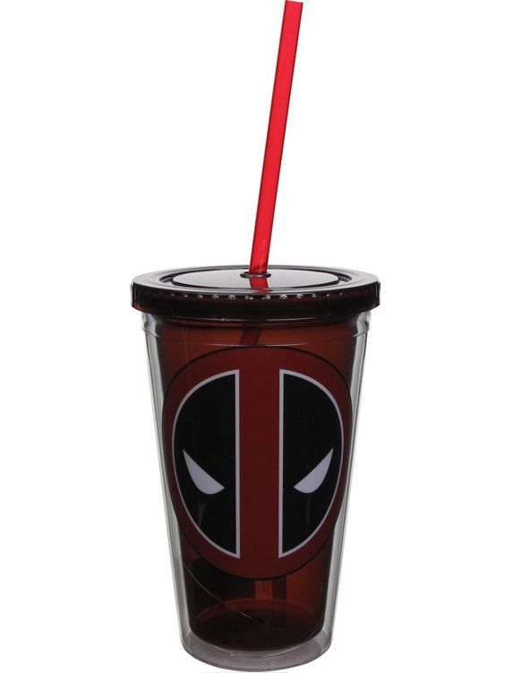 Deadpool Logo Travel Cup is an official Deadpool licensed product designed travel cup that is decorated with an official Deadpool image. Limited supplies are available - so get yours now while supplie