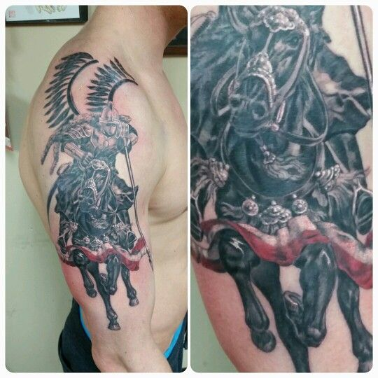 Polish knights hussars tattoo