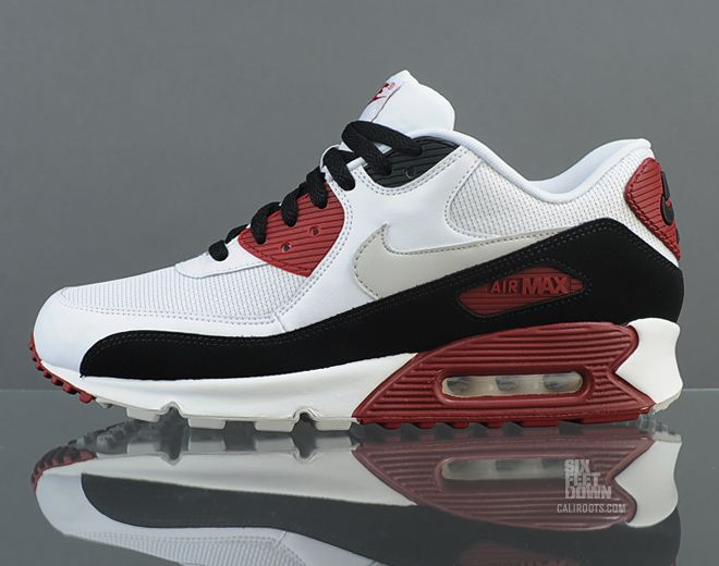 Nike Air Max 90 Essential - Team Red | Officially 'White/Neutral Grey-Black-Team  Red', this version sees a similar color block as the original