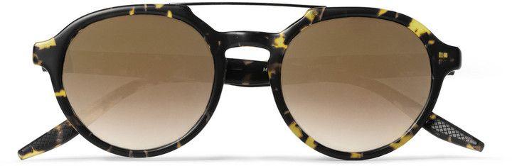 Barton Perreira Bailey Round-Frame Acetate and Metal Sunglasses