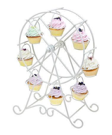Take a look at this Godinger White Ferris Wheel Cupcake Holder by Christmas Cupcakes Collection on #zulily today!