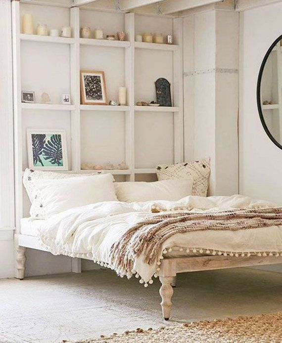 Platform Bed Wood Siderails And Footboard Headboard Or Free