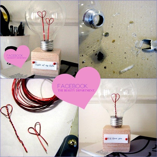 DIY Heart and Light bulb