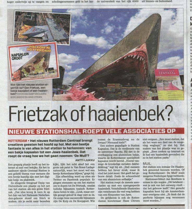 Station Kapsalon in Algemeen Dagblad #stationkapsalon #algemeendagblad
