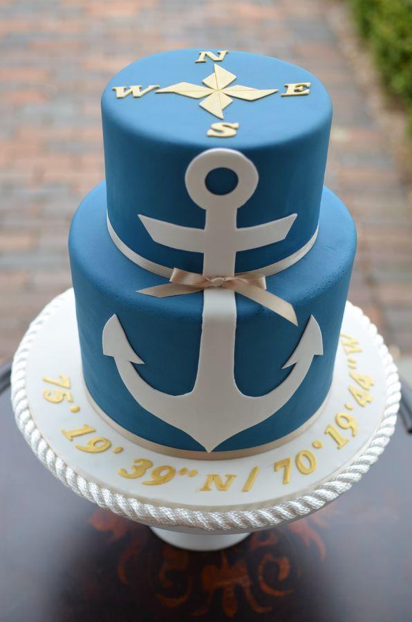 Anchor Birthday Cake cakepins.com