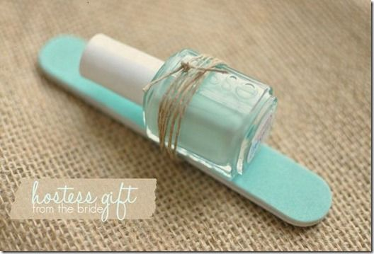 Nail Polish and Nail File - Add to a gift bag or party favor in the theme color of the party