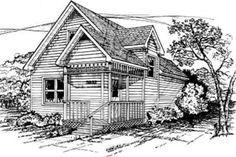 Cottage Style House Plan - 3 Beds 2.00 Baths 1032 Sq/Ft Plan #50-204 Exterior - Front Elevation - Houseplans.com
