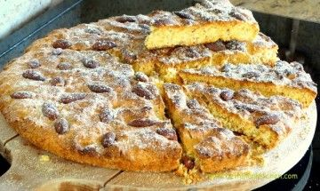 polenta almonds cake