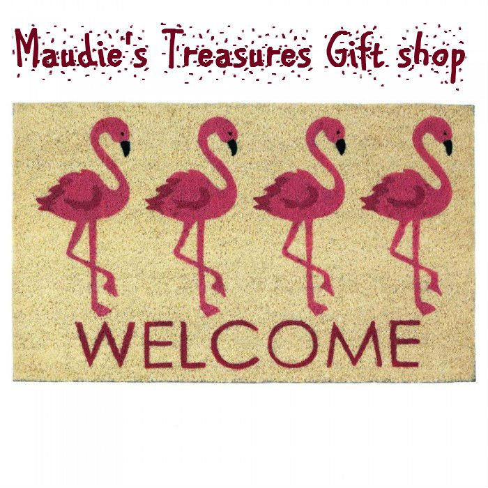 #loveFlamingo Welcome Mat #http://bit.ly/2yB8owx #home #door mats $15.00 #fall sale now use fallsale25 to get your 25% off discount code. #check this sale out now #sale ends 10 - 31 - 17