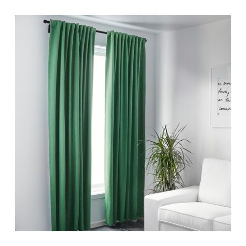 $40 for guest room WERNA Block-out curtains, 1 pair  - IKEA