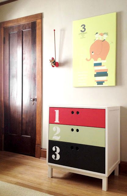Ikea dresser goes retro