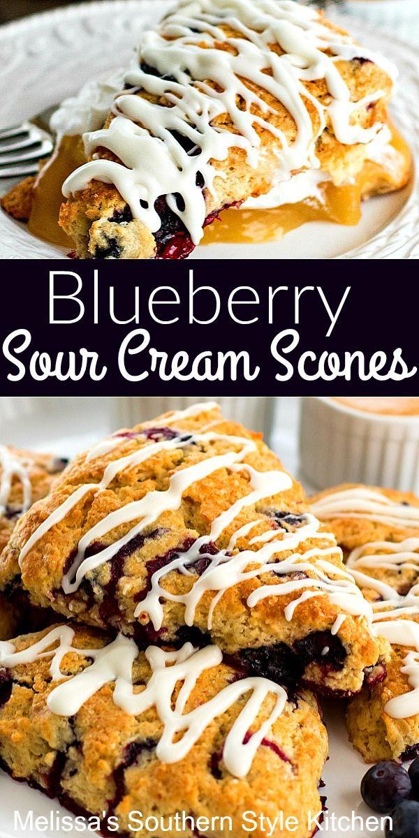 Blueberry Sour Cream Scones In 2020 Sour Cream Scones Sour Cream Blueberry Recipes