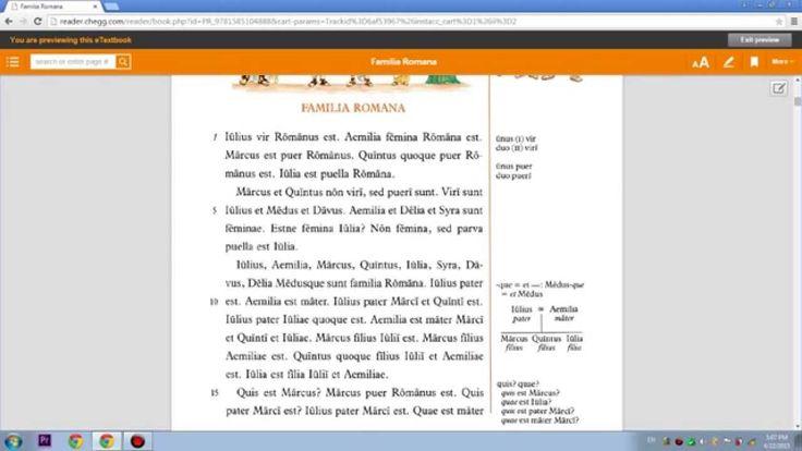 Lingua Latina per se Illistrata, Pars I: Familia Romana. Capitulum II.