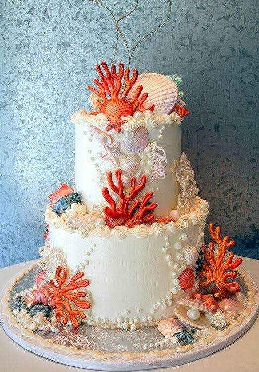 Cake Design Guadeloupe : 4101 best Beach and Sea Cakes images on Pinterest