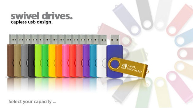 Custom Flash Drives at no additional cost, great gift idea to give to people after photographing their events  Personalized Swivel Drives | USB Flash Drives | Pexagon Technology