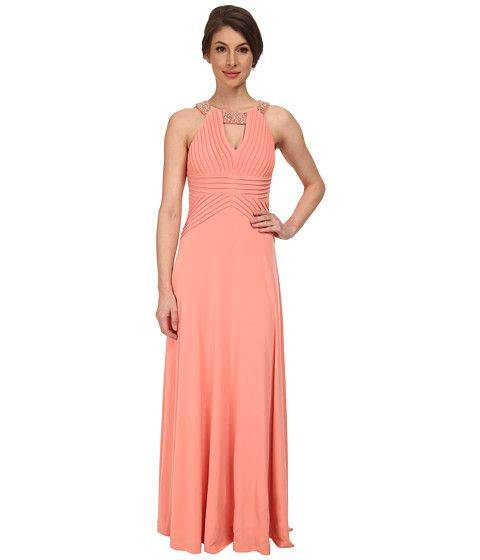 Calvin Klein Draped Bodice with Neck On Beading On Neck CD5B1832