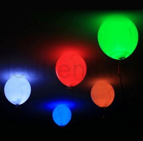 Ballonger med LED-lys   Er det her det er LED-party?