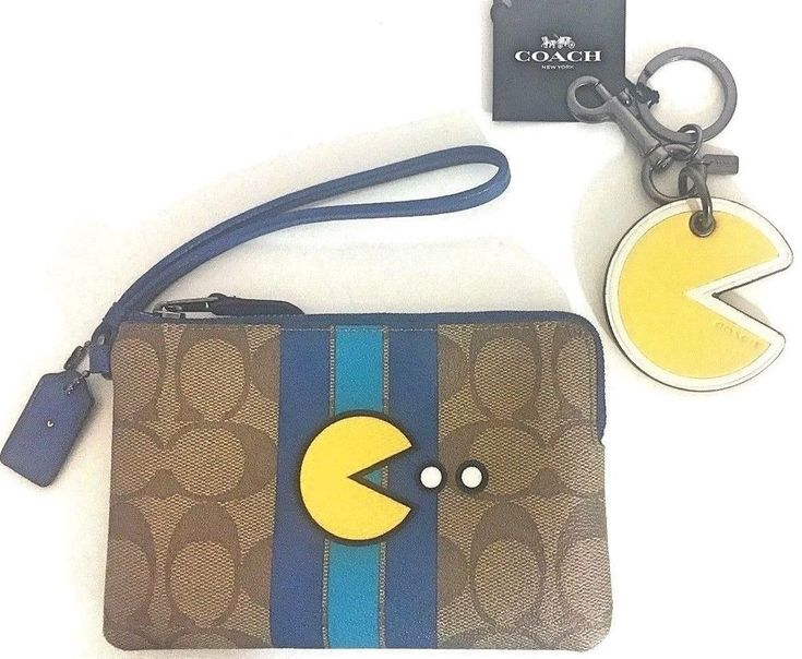 Coach pacman handbag wristlet wallet keychain charm video