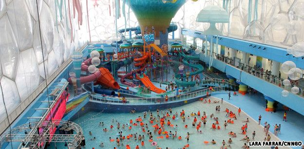 Now you can swim, splash and slide where Olympic athletes once competed, as Beijing's National Aquatics Center, or the Water Cube, becomes home to Asia's largest water park