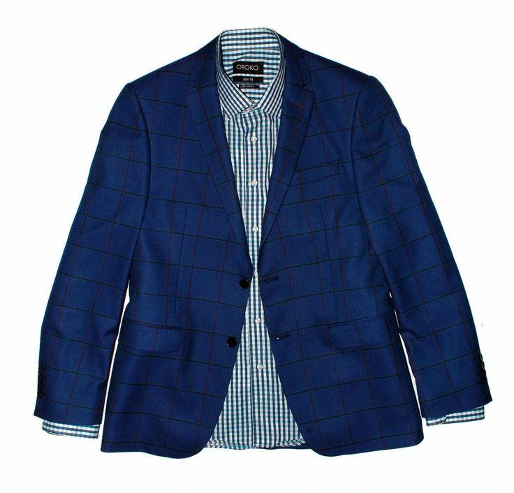 Темно синий мужской пиджак в клетку по супер выгодной цене 15900 руб руб, с бесплатной доставкой по Москве и России без предоплаты. В наличие размеры 58, 56, 54, 52, 50, 48, приезжайте к нам в магазин!