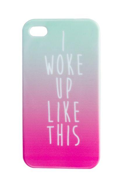 I woke up like this iphone case / GUMMIE case / jelly case / pastel case / etui / www.gummiestore.com