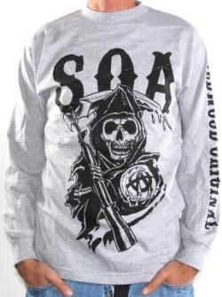 Sons Of Anarchy Long Sleeve T-Shirt - Redwood Original Heather