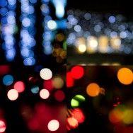 Yılbaşı ışıkları mavi