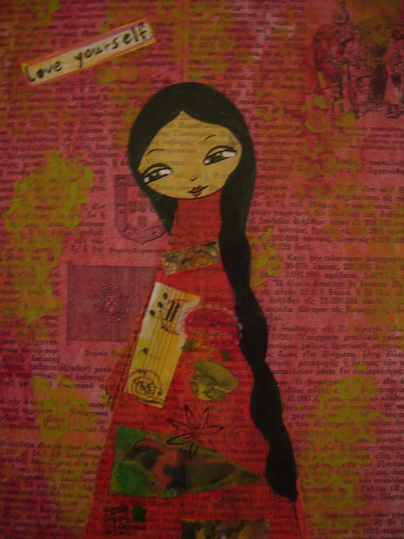 Love Yourself  Art Journal/Smash Book/Notebook  for the by eltsamp, $48.00