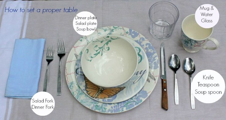 How to Set a Proper Table #entertaining #etiquette #sponsored   Original post: http://www.confessionsofanover-workedmom.com/2013/07/how-to-set-a-proper-table.html