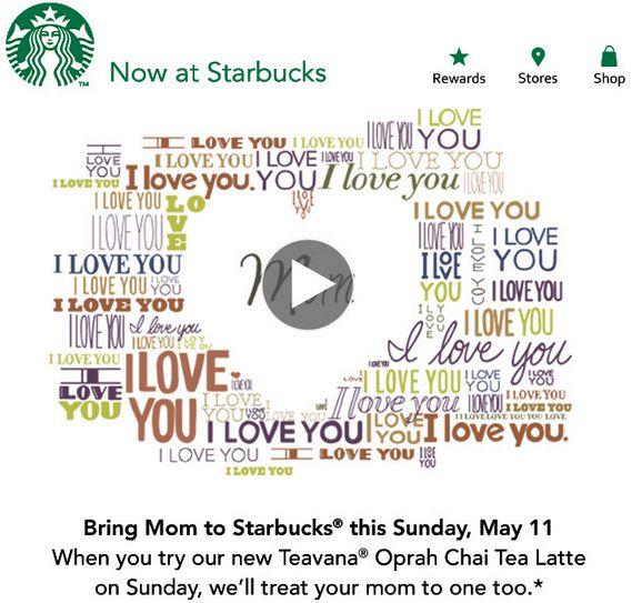 Starbucks BOGO Oprah Chai Tea Latte Sunday, May 11th 2014