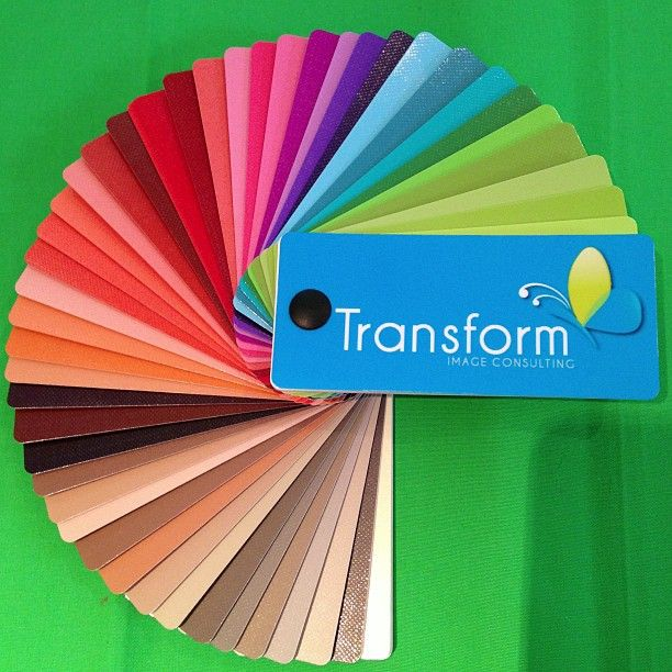 Warm & Clear Colour Swatch $65. Ask about our photographic colour analysis services at www.facebook.com/TransformInageConsulting